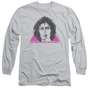 Rocky Horror Picture Show  Long Sleeve Shirt Frank Face Silver Tee T-Shirt