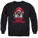Rocky Horror Picture Show  Sweatshirt Cast Throne Adult Black Sweat Shirt