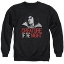 Rocky Horror Picture Show  Sweatshirt Creature Of The Night Adult Black Sweat Shirt
