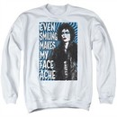 Rocky Horror Picture Show  Sweatshirt Face Ache Adult White Sweat Shirt