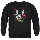 Rocky Horror Picture Show  Sweatshirt Oh My Adult Black Sweat Shirt
