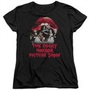 Rocky Horror Picture Show  Womens Shirt Cast Throne Black T-Shirt