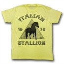 Rocky Shirt Italian Stallion 1978 Adult Yellow Tee T-Shirt