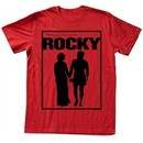 Rocky T-shirt Boxer Poster Adult Red Heather Tee Shirt
