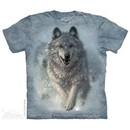 Running Wolves Shirt Tie Dye Adult T-Shirt Tee