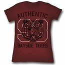 Saved By The Bell Juniors Shirt Authentic Maroon Tee T-Shirt