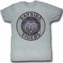 Saved By The Bell Juniors Shirt Pinstripe Bayside Purple T-Shirt