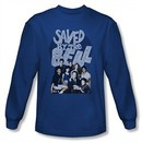 Saved By The Bell Shirt Cast Long Sleeve Royal Blue T-Shirt