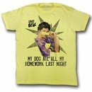 Saved By The Bell Shirt My Homework Adult Yellow Tee T-Shirt