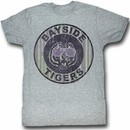 Saved By The Bell Shirt Pinstripe Bayside Adult Heather Grey T-Shirt