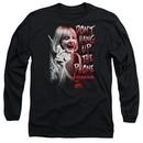 Scream  Long Sleeve Shirt Don't Hang Up The Phone Black Tee T-Shirt