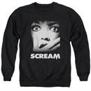 Scream  Sweatshirt Movie Poster Adult Black Sweat Shirt