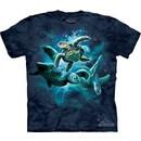 Sea Turtle Shirt Tie Dye Ocean Collage T-shirt Adult Tee