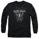 Seether Long Sleeve Shirt Suffer Black Tee T-Shirt