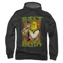 Shrek Hoodie Sweatshirt Best Buds Charcoal Adult Hoody Sweat Shirt