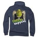 Shrek Hoodie Sweatshirt Happens Navy Blue Adult Hoody Sweat Shirt