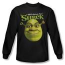Shrek Shirt Authentic Ogre Long Sleeve Black Tee T-Shirt
