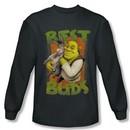 Shrek Shirt Best Buds Long Sleeve Charcoal Tee T-Shirt