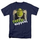 Shrek Shirt Happens Adult Navy Blue Tee T-Shirt