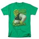 Shrek Shirt Looking Good Adult Kelly Green Tee T-Shirt