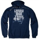 Six A&E TV Show Hoodie No Quitting Navy Blue Sweatshirt Hoody