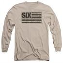Six A&E TV Show Long Sleeve Shirt Camo Flag Sand Tee T-Shirt