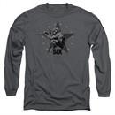 Six A&E TV Show Long Sleeve Shirt Star Shooter Charcoal Tee T-Shirt