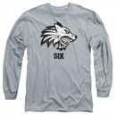 Six A&E TV Show Long Sleeve Shirt Wolf Athletic Heather Tee T-Shirt