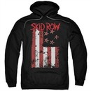 Skid Row Hoodie Flagged Black Sweatshirt Hoody