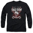 Skid Row Long Sleeve Shirt Winged Skull Black Tee T-Shirt
