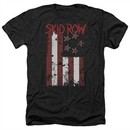 Skid Row Shirt Flagged Heather Black T-Shirt