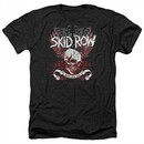 Skid Row Shirt Winged Skull Heather Black T-Shirt