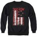 Skid Row Sweatshirt Flagged Adult Black Sweat Shirt
