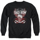 Skid Row Sweatshirt Winged Skull Adult Black Sweat Shirt