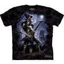 Skull Shirt Tie Dye Skeleton Play Dead Guitar T-shirt Adult Tee
