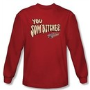 Smokey And The Bandit T-shirt Sombitch Adult Red Long Sleeve Tee Shirt