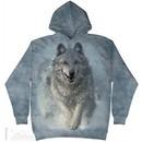 Snow Wolves Hoodie Tie Dye Adult Hooded Sweat Shirt Hoody