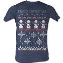 Snowman T-Shirt ? Sweater Shirt 2 Christmas Holiday Adult Blue T-Shirt
