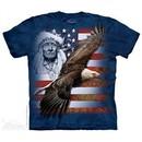 Spirit of America Shirt Tie Dye Adult T-Shirt Tee