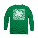 St. Patrick's Day Shirt Celtic Clover Long Sleeve Kelly Green Tee T-Shirt