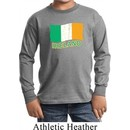 St Patrick's Day Distressed Ireland Flag Kids Long Sleeve Shirt