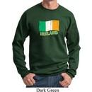 St Patrick's Day Distressed Ireland Flag Sweatshirt