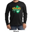 St Patrick's Day Kiss Me I'm Irish Kids Long Sleeve Shirt