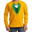 St Patricks Day Kids Shirt Irish Tuxedo Long Sleeve Tee T-Shirt