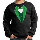 St Patricks Day Kids Sweatshirt Irish Tuxedo Sweat Shirt