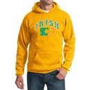 St Patricks Day Mens Hoodie Distressed Irish Shamrock Hoody