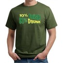 St Patricks Day Mens Shirt 10% Irish 90% Drunk Organic Tee T-Shirt