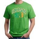 St Patricks Day Mens Shirt Distressed Irish Shamrock Organic Tee