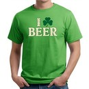 St Patricks Day Mens Shirt I Love Beer Organic Tee T-Shirt