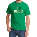 St Patricks Day Mens Shirt I Love Beer Tee T-Shirt